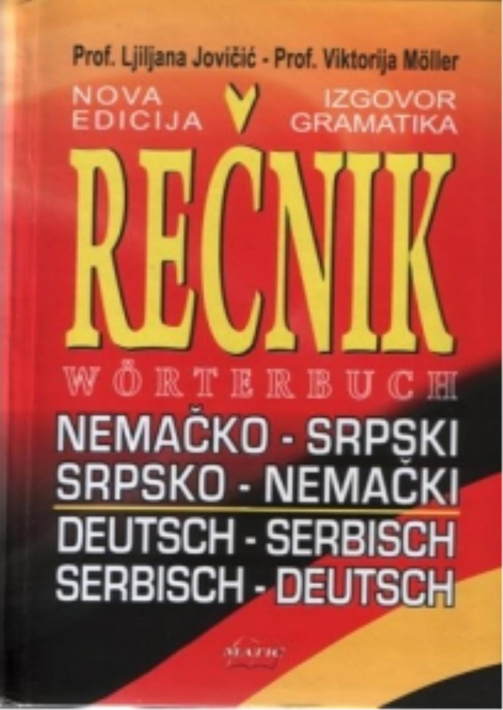 Rečnik Nemačko Srpski Srpsko Nemački Ljiljana Jovičić